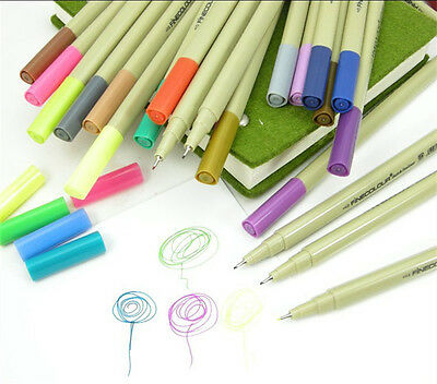 FINECOLOUR Sketch Color 0.3mm Fine Liner Pen Art Drawing Painting 48 Color Kit