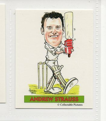 #3 Andrew Strauss  Cricket Collector Card