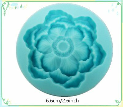 Flower Silicone Bakeware Tool Cake Decorating Clay Mold Mould Fondant Embossed