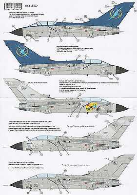 mmd48002/ Mission Mark Decals - Tornado over the Apennines - 1/48