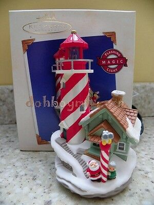 2003 Hallmark Lighthouse Greetings Magic Series Christmas Ornament