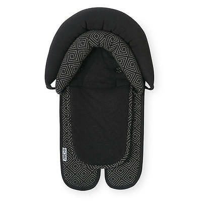 Zobo Reversible Double Car Seat and Stroller Headrest - Black Diamonds
