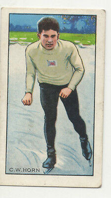 #34 C W Horn Ice skating  - Sport cigarette card