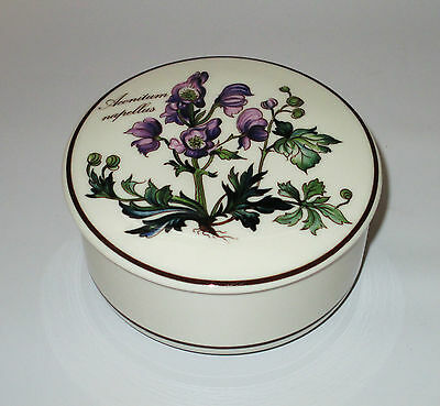Villeroy & Boch Botanica Candy Trinket Box With Lid Aconitum Napellus 4""