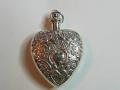 Heart Shaped  Sterling Silver Chatelaine Perfume Pendant #1- New (Last Ones!!)