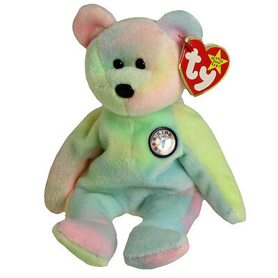 TY Beanie Baby - BB BIRTHDAY Bear (8.5 inch) - MWMTs Stuffed Animal Toy