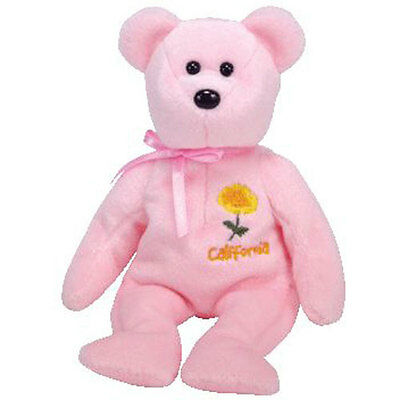 TY Beanie Baby - CALIFORNIA POPPY the Bear (Show Exclusive) (8.5 inch) - MWMTs