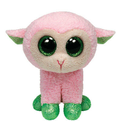 TY Basket Beanie Baby - BABS the Pink Lamb (3 inch) - MWMTs Easter Stuffed Toy