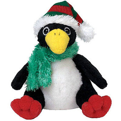TY Jingle Beanie Baby - TOBOGGAN the Penguin (3.5 inch) - MWMTs Holiday Ornament