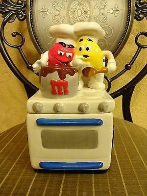 2001 M&M's Candy Ceramic Candy Dish Cookie Jar Oven / Stove