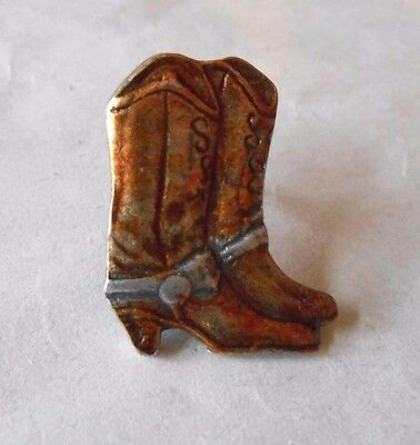 Cool Vintage 1992 Bergamot 1052 Cowboy Boots Detailed Lapel Pin Pinback