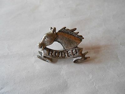 Cool Vintage Rodeo Horse Head with Flowing Mane Souvenir Lapel Pin Pinback