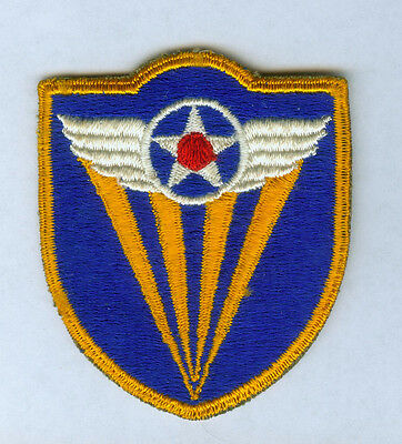 Ww2 Us Army Air Force Aaf Forth Air Force Insignia Cut Edge Snow Back Ssi Patch
