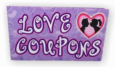 """LOVE COUPONS"" Treat Your Partner To 12 Coupons of Romance ~ Brand New"