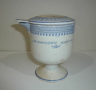 ANTIQUE HOMOEOPATHIC  MEDICINE PORCELAIN No 2 ASHTON & PARSONS MEASURING CUP