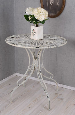 Garden table Shabby Chic Romance iron table round table