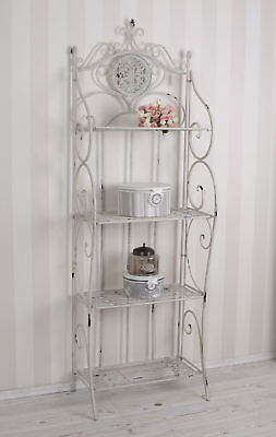 Shelf White Shabby Chic metal shelf iron rack Antique style