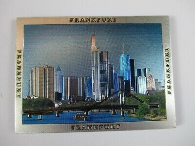 Frankfurt MAINHATTAN Premium Souvenir Magnet,Germany Deutschland,Laser Optik !