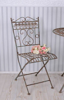 Iron chair garden chair Shabby Chic Folding chair garden seat