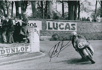 John Surtees SIGNED Autograph 12x8 Photo Racing Legend AFTAL COA IOM