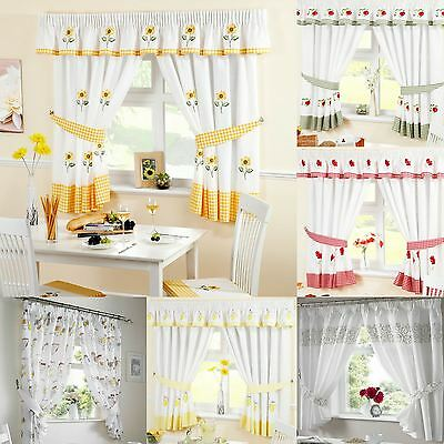 Ready Made Kitchen Window Curtains | Pelmets & Seat Pads Sold Separately