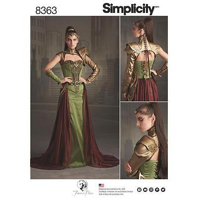 Simplicity Sewing Pattern Misses' Fantasy Ranger Costume Crown Size 6 - 14 8363