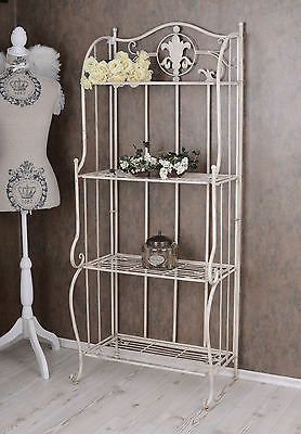 Nostalgie Regal Metallregal Jugendstil Eisenregal Shabby Chic