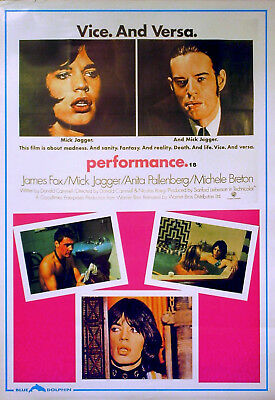 PERFORMANCE 1970 (RR) Mick Jagger, James Fox, Anita Pallenberg UK 20x30 POSTER