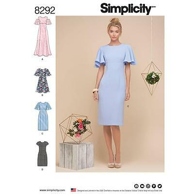 SIMPLICITY SEWING PATTERN MISSES' DRESS SIZE 6 - 22 8292  Sale