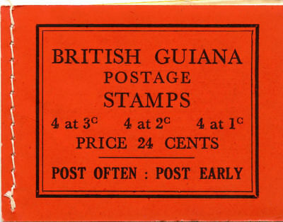 British Guiana 1945 KGVI 24c booklet superb MNH. SG SB9e.