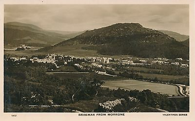 BRAEMAR from MORRONE, Aberdeenshire Vintage Real Photo Postcard