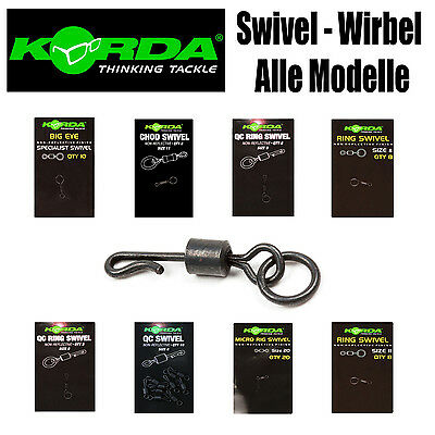 Korda Swivel Wirbel - alle Modelle Big Eye, Micro Ring Flexi Ring, Chod, QC Ring