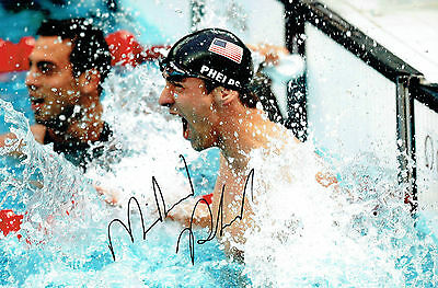 Michael PHELPS Autograph Signed Photo 3 AFTAL COA Team USA Gold Medal Swimmer