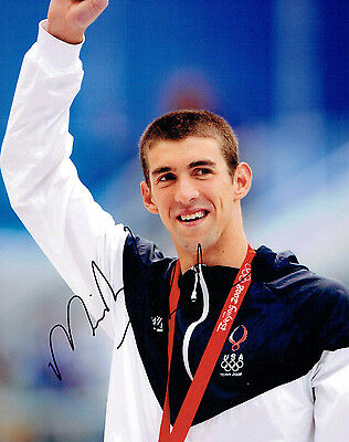 Michael PHELPS Autograph Signed Photo 6 AFTAL COA Team USA Gold Medal Swimmer
