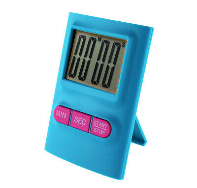 Reloj de Cocina Digital LCD Temporizador con Clip Boton On / Off - Azul