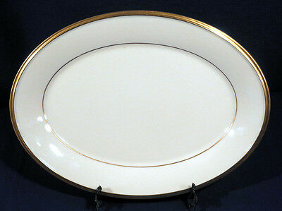 """Lenox China Eternal Oval Serving Meat Platter 13-7/8"""" Excellent Condition!"""