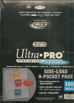 75 ULTRA PRO Premium 9 Pocket Side Load Pages Sheets New