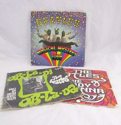 Lot 3 Vinyles 45 Tours The Beatles Magical Mystery The Inner Light Ob Bla (B562