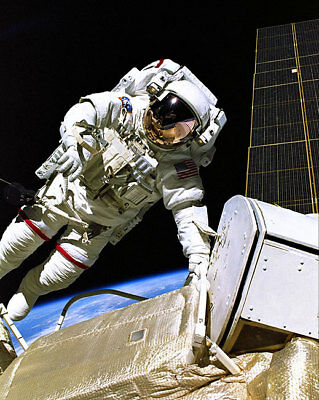 NASA Astronaut Jerry Ross Space Walk 11x14 Silver Halide Photo Print