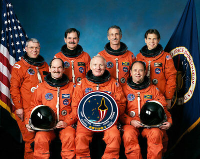 NASA STS-35 Official Crew Portrait 11x14 Silver Halide Photo Print