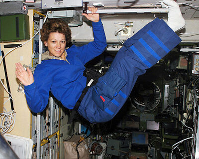 STS-114 Astronaut Eileen Collins Floating 11x14 Silver Halide Photo Print