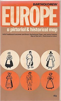 Bartholomew Pictorial And Historical Map Of Europe