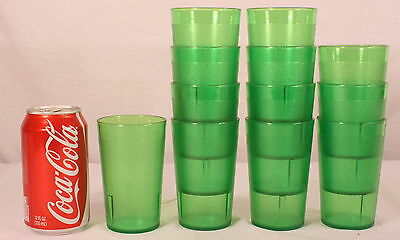 "Cambro 950P-2 Restaurant Plastic Glasses Green Juice Tumbler 9.8oz 4 1/4"" T (12)"