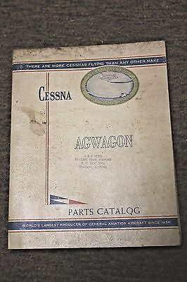 Cessna 188 AGwagon AGtruck AGpickup Illustrated Parts Catalog Through 1966