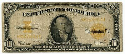 1922 $10 Gold Certificate - Large Currency Note - Ten Dollars - AK38