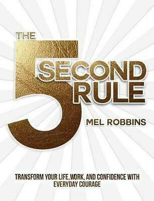5 Second Rule by Mel Robbins Hardcover Book Free Shipping!