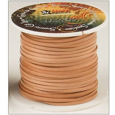 """1/8 x 50 Yard Superior Calf Lace - Natural 1 8""""x Yds Leather Lacer Lacing"""