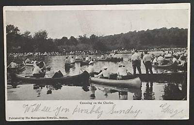 Canoeing on the Charles 1905 The Metropolitan News Co