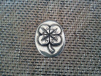 Your LUCKY FOUR LEAF CLOVER GOOD LUCK 2 HIS & HERS POCKET COIN PEWTER All New