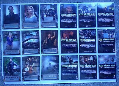 The Walking Dead season 3 part 2 full 9 card  Woodbury chase   set